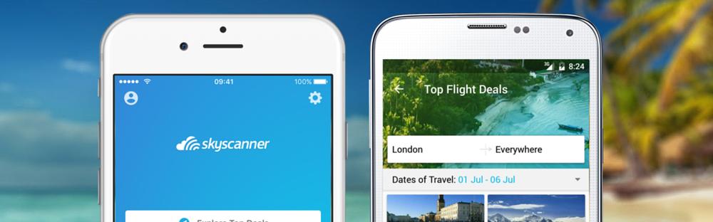 Pacotes promocionais através do aplicativo SkyScanner