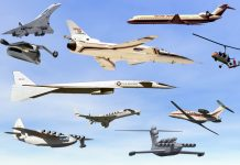 tipos de aviões