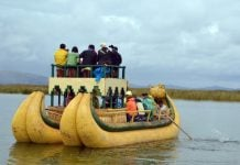 ilhas de Puno no Peru